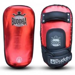 Muay thai paddles Buddha metalic red