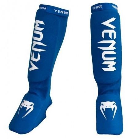 Venum Kontact kick boxing shin guards blue