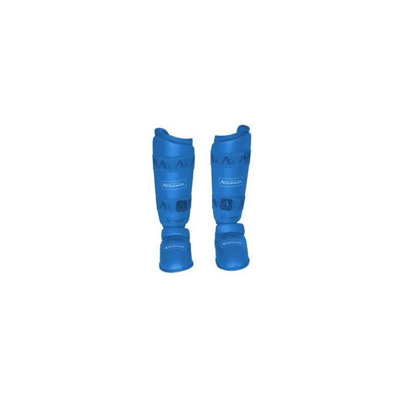 Arawaza karate shin guard blue