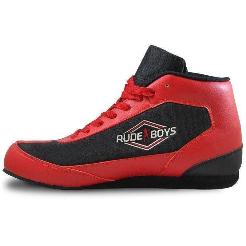 Rude boys BRX boxing boots red
