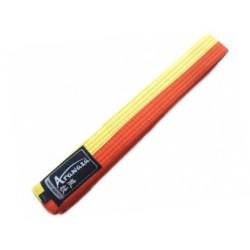 Karate Arazawa belt yellow/orange