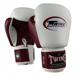 Twins boxing gloves BGVL 3 white-red wine
