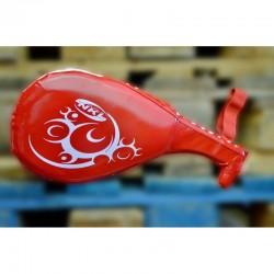 NKL taekwondo double mitts red