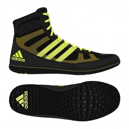 Adidas Mat Wizard 3 boxing boots black/yellow