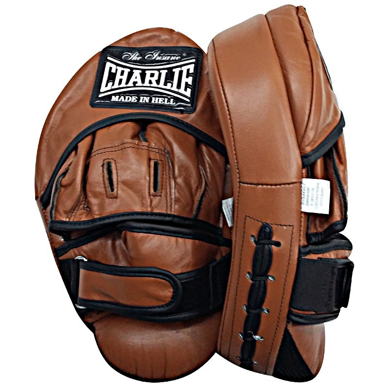Charlie Hybrid curved boxing mitts