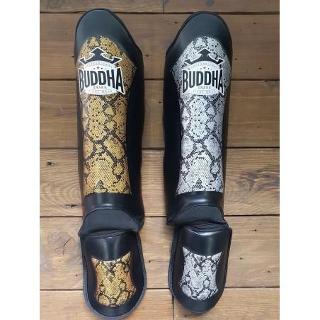 Kick boxing shin guards Buddha Snake