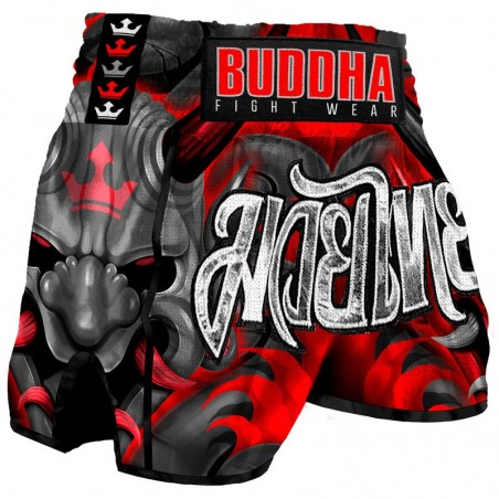 Muay Thai Shorts Buddha Retro Demon