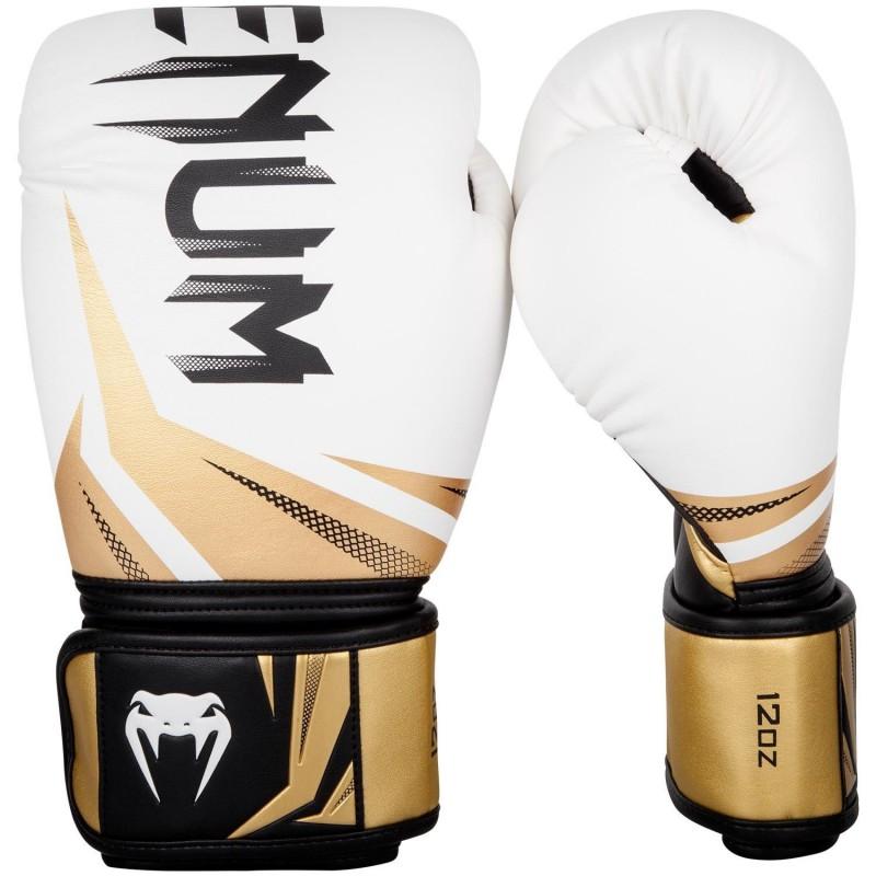 Venum kick boxing gloves challenger 3.0 white/black /gold