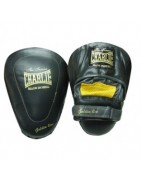 Boxing mitts, clubs and shields